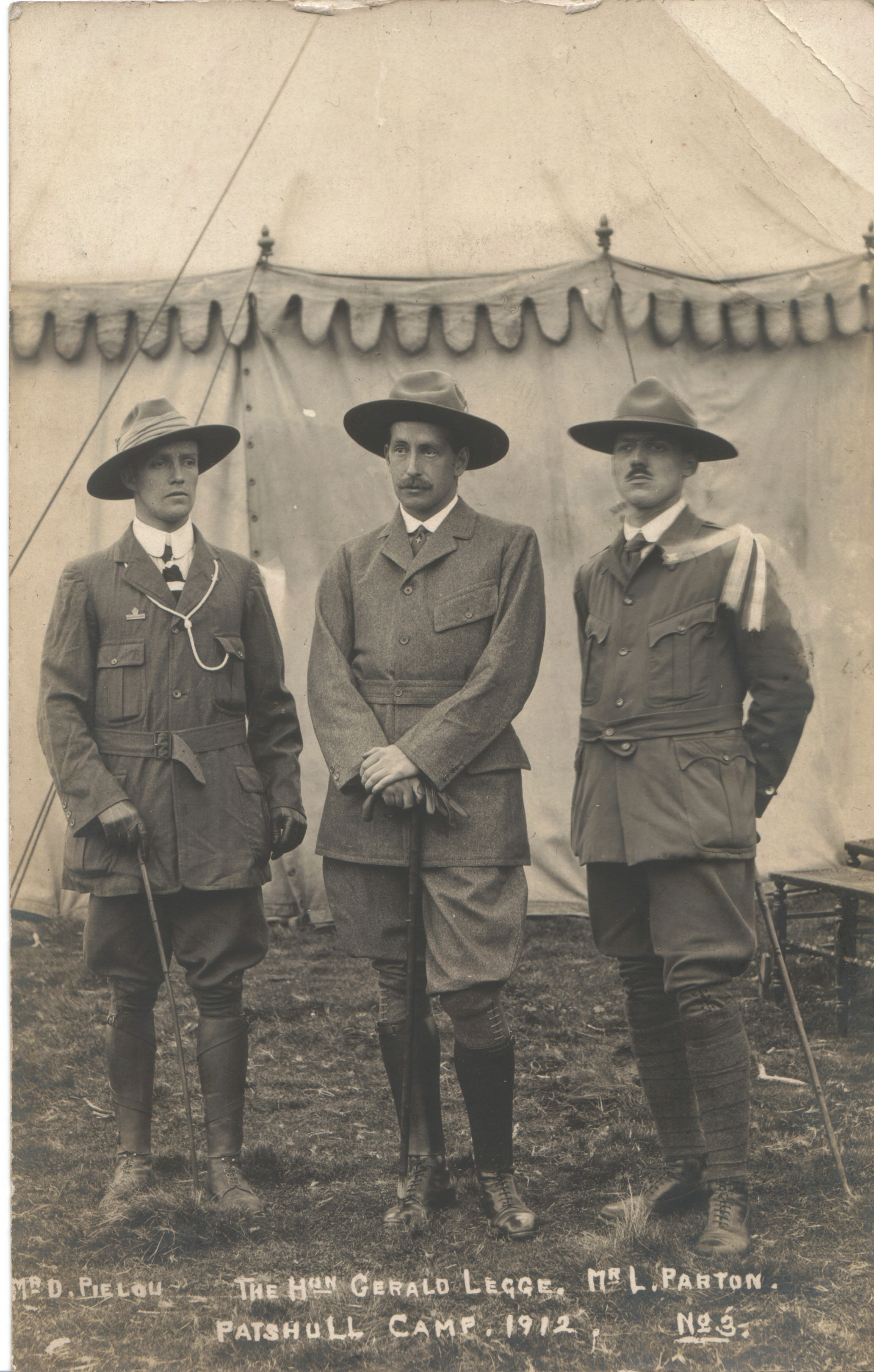 District and County Commissioners at Patshull Camp 1912